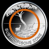 5 Euro BRD - Subtropische Zone (F) - 2018 (Stgl.)