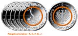5 x 5 Euro BRD - Subtropische Zone - 2018  -  A,D,F,G,J (Spgl.)