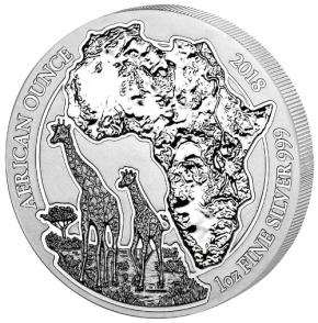 1 Oz. Ruanda - Giraffe 2018