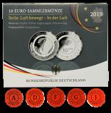 10 Euro - In der Luft - 2019 (A,D,F,G,J) - Spiegelglanz