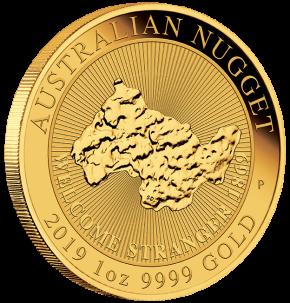 1 Oz. AUSTRALIAN NUGGET - Welcome Stranger - 2019
