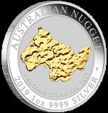 """1 Oz. AUSTRALIAN NUGGET """"Welcome Stranger"""" 2019 - gilded"""