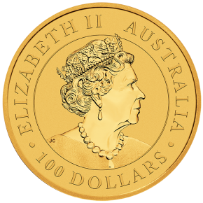 1 Oz. AUSTRALIAN NUGGET - Golden Eagle - 2021
