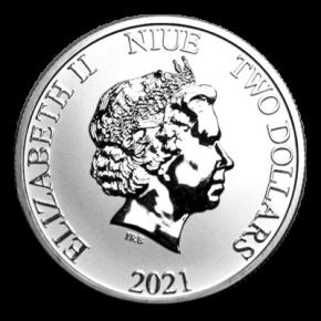 1 Oz. Niue - Donald & Daisy 2021