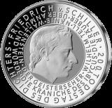 10 Euro - 200. Todestag Friedr. Schiller (2005 - Spgl.)