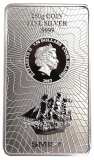 250 Gramm  Cook Islands 2017 - Münzbarren  (Silber  999.9) - Neues Design