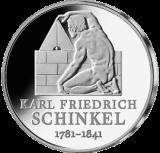 10 Euro - 225. Geburtstag Karl Friedr. v. Schinkel (2006 - Spgl.)