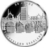 10 Euro - 50 Jahre Bundesland Saarland (2006 - Spgl.)