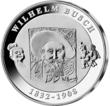 10 Euro - 175. Geburtstag Wilhelm Busch (2007 - Spgl.)