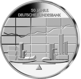 10 Euro - 50 Jahre Deutsche Bundesbank (2007 - Spgl.)
