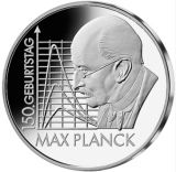 10 Euro - 150. Geburtstag Max Planck (2008 - Spgl.)