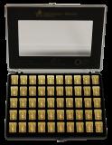 50 x 1 Gramm Goldbarren - Collection (Heimerle + Meule, Pforzheim)