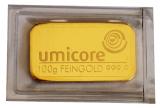 100 Gramm Goldbarren (Umicore) - geprägt