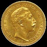 J 250 - 20 Mark Preußen - Wilhelm II - 1888