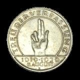 J 340 - 3 RM - Treu der Verfassung 1929 - E (ss+)