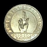 J 340 - 3 RM - Treu der Verfassung 1929 - G (ss)