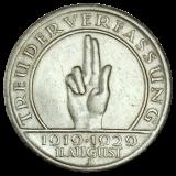J 341 - 5 RM - Treu der Verfassung 1929 - J (ss-vz)
