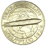 J 343 - 5 RM - Graf Zeppelin 1930 - D (vz)