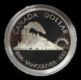 1 Dollar 1986 (Proof)  -  Lokomotive Vancouver