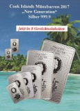 Cook Islands Münzbarren-Serie  -   5 Gramm - 500 Gramm  (8 Stk. - 966,10 Gr.)